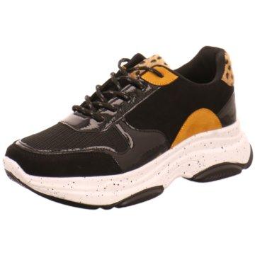 Monshoe Plateau Sneaker schwarz