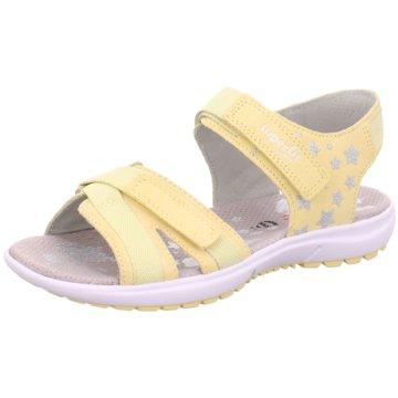 Superfit Offene Schuhe gelb