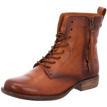 Only A Shoes Schnürstiefelette braun
