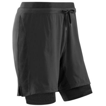 CEP kurze Sporthosen TRAINING 2IN1 SHORTS - W081B schwarz