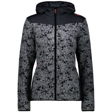 CMP SweaterWOMAN JACKET FIX HOOD - 30H2666 grau