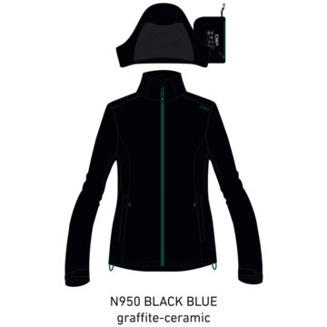 CMP RegenjackenWOMAN RAIN ZIP HOOD JACKET WITH VEN - 30X9766 blau