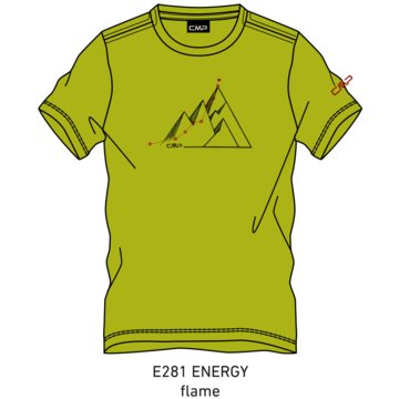 CMP T-ShirtsKID T-SHIRT - 39T7544 gelb
