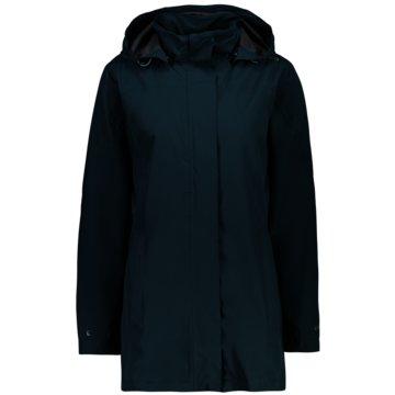 CMP RegenjackenWOMAN RAIN JACKET BUTTON HOOD - 39X6646 blau