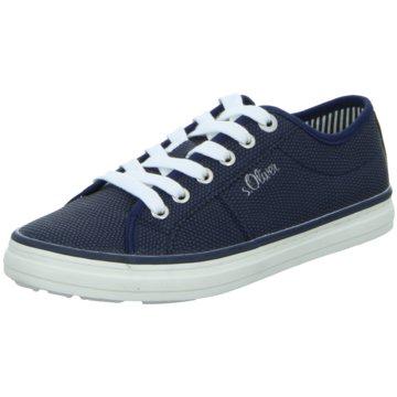 s.Oliver Sportlicher Schnürschuh blau