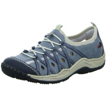 Rieker Komfort SlipperSneaker blau