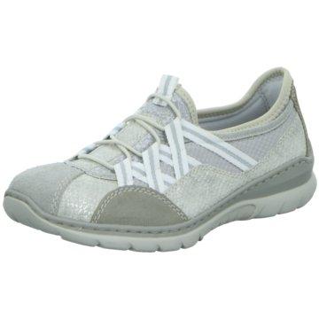 Rieker Komfort SlipperSneaker grau