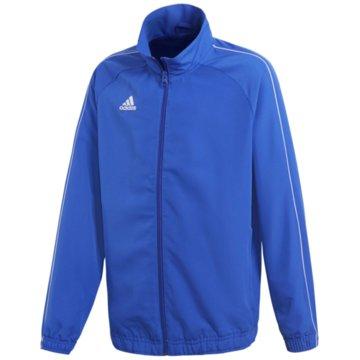 adidas TrainingsjackenCORE18 PRE JKTY - CV3688 blau