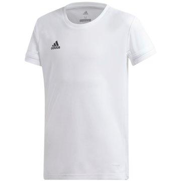 adidas T-ShirtsT19 SS JSY YG - DW6884 weiß