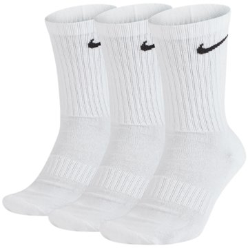 Nike Hohe SockenEveryday Cotton Cushioned Crew Socks 3PPK weiß
