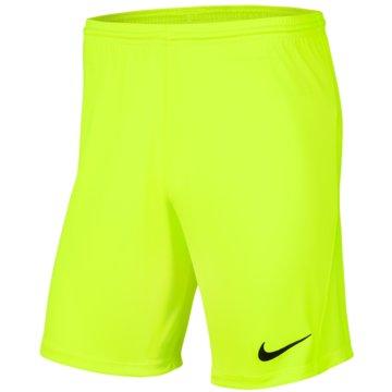 Nike Fußballshorts gelb