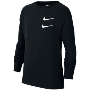 Nike SweatshirtsNike Sportswear Swoosh Big Kids' (Boys') Crew - CT8990-010 schwarz