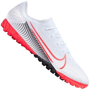 Nike Multinocken-SohleNike Mercurial Vapor 13 Pro TF Artificial-Turf Soccer Shoe - AT8004-160 weiß