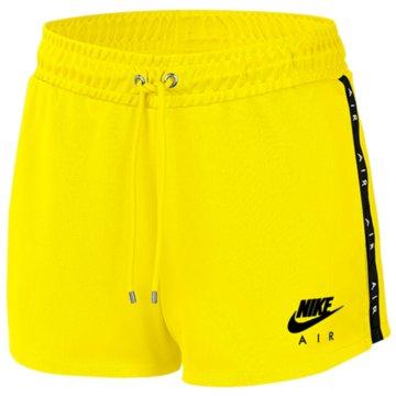 Nike kurze Sporthosen gelb