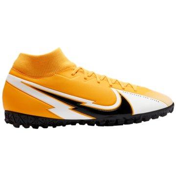 Nike Multinocken-SohleNike Mercurial Superfly 7 Academy TF Artificial-Turf Soccer Shoe - AT7978-801 orange
