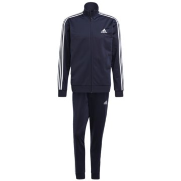 adidas TrainingsanzügePRIMEGREEN ESSENTIALS 3-STREIFEN TRAININGSANZUG - GK9658 weiß