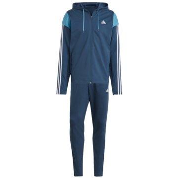 adidas Trainingsanzüge SPORTSWEAR RIBBED INSERT TRAININGSANZUG - GM5798 blau