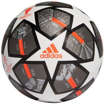 adidas FußbälleFINALE 21 20TH ANNIVERSARY UCL TEXTURED TRAININGSBALL - GK3476 weiß