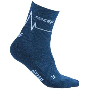 CEP Hohe Socken HEARTBEAT MID-CUT SOCKS - WP3CC blau