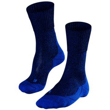 Falke Hohe SockenTK1 WOOL HERREN SOCKEN - 16384 blau