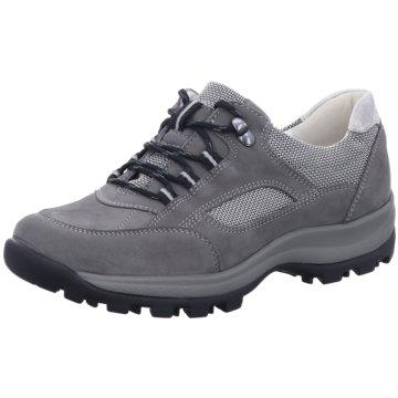 Waldläufer Komfort Schnürschuh grau