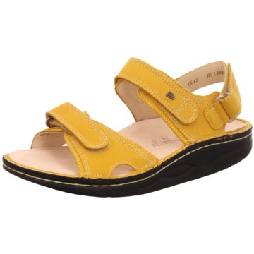 FinnComfort Komfort Sandale gelb