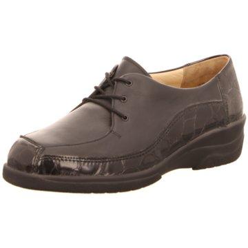 Solidus Komfort Schnürschuh schwarz