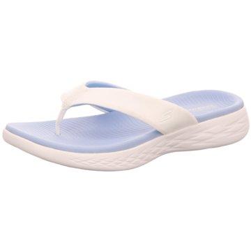 Skechers Bade-Zehentrenner weiß