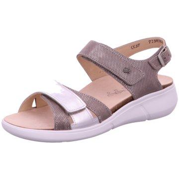 FinnComfort Komfort Sandale silber