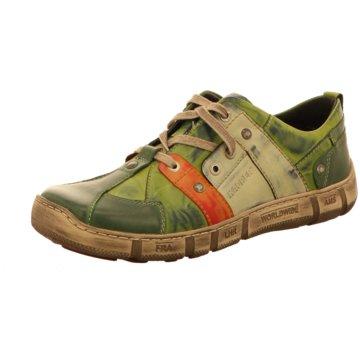 Kacper Komfort Schnürschuh grün