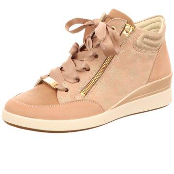 ara Sneaker Wedges rosa