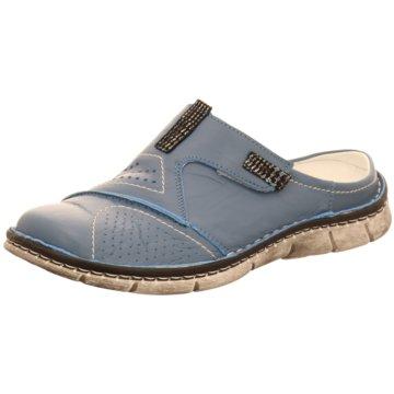 KRISBUT Komfort Pantolette blau