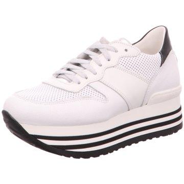 No Claim Plateau Sneaker weiß