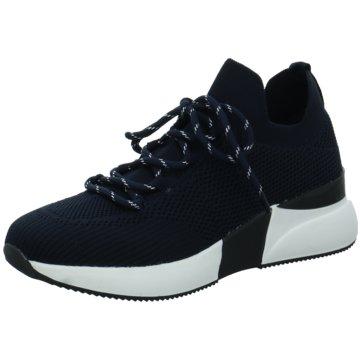 La Strada Plateau Sneaker blau