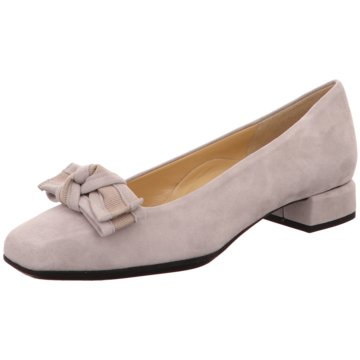 Brunate Flacher Pumps grau