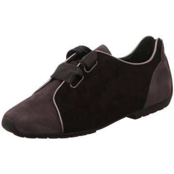 Mania Komfort Schnürschuh schwarz