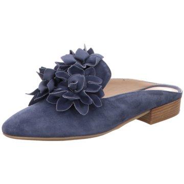 Donna Carolina Mules Pantoletten blau
