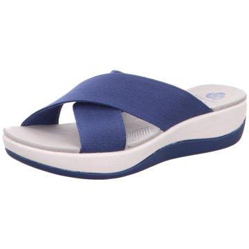 Clarks Komfort Pantolette blau
