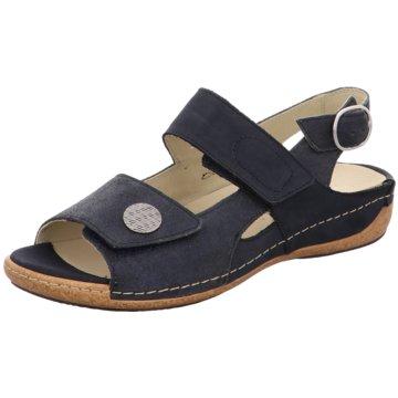 Waldläufer Komfort Sandale schwarz