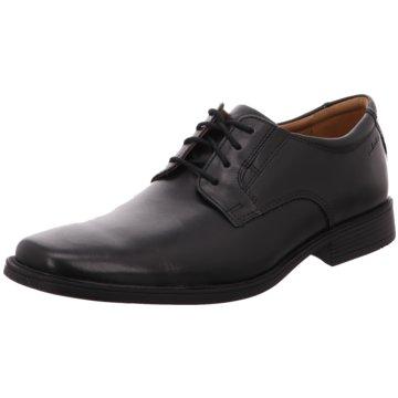Clarks Klassischer Schnürschuh schwarz