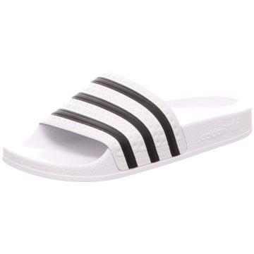 adidas Originals Badelatsche weiß