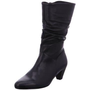 Mattea Langschaftstiefel schwarz Leder aus schwarzem