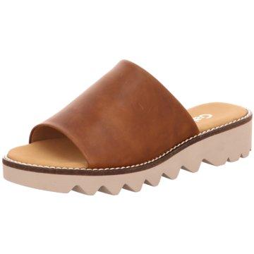 Damen Sale Schuhe Gabor Zehentrenner taupe Online Kaufen