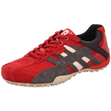 Geox Sportlicher Schnürschuh rot