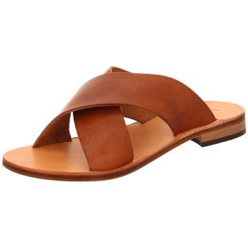 The Sandals Factory Klassische Pantolette braun