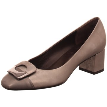 Perlato Flacher Pumps grau