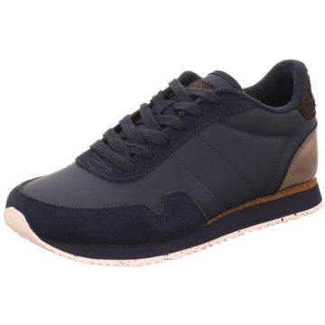 Woden Sneaker Low blau