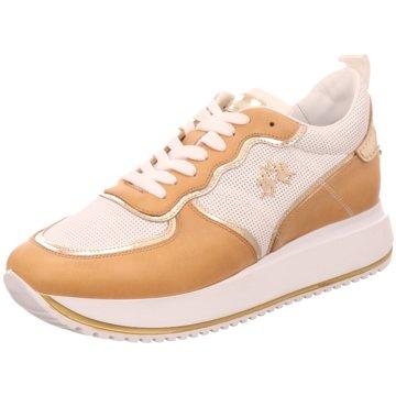 La Martina Plateau Sneaker braun