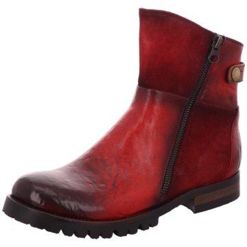 Lorenzi Klassische Stiefelette rot