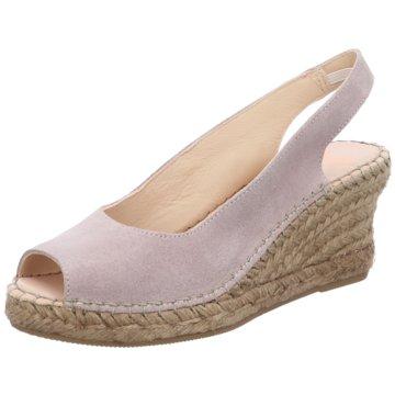 Fred de la Bretoniere Top Trends SandalettenEspandrille heel rosa